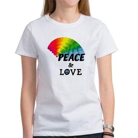 Rainbow Peace and Love Women's T-Shirt