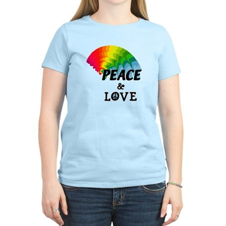 Rainbow Peace and Love Women's Light T-Shirt