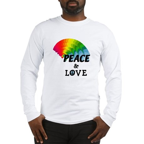 Rainbow Peace and Love Long Sleeve T-Shirt