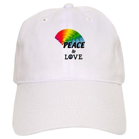 Rainbow Peace and Love Cap