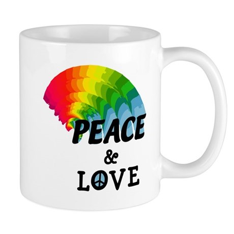 Rainbow Peace and Love Mug
