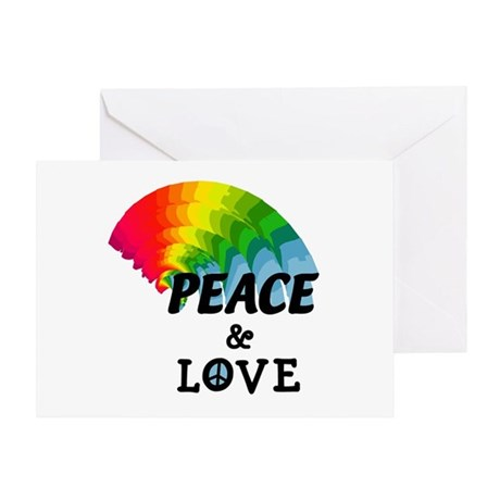 Rainbow Peace and Love Greeting Card