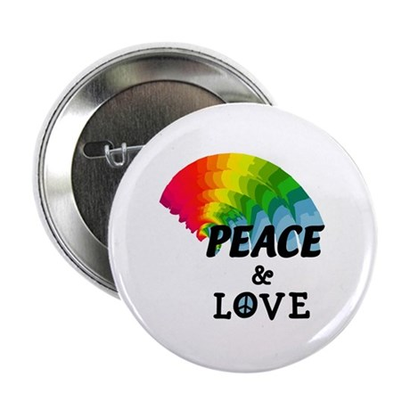 "Rainbow Peace and Love 2.25"" Button"