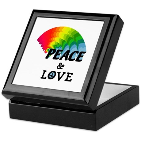 Rainbow Peace and Love Keepsake Box