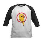 Yellow Parakeet Kids Baseball Jersey