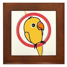 Yellow Parakeet Framed Tile
