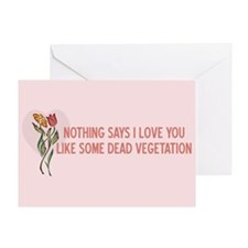 Valentine Flowers Greeting Card