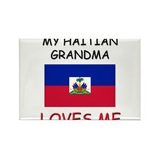 My Haitian Grandma Loves Me Rectangle Magnet