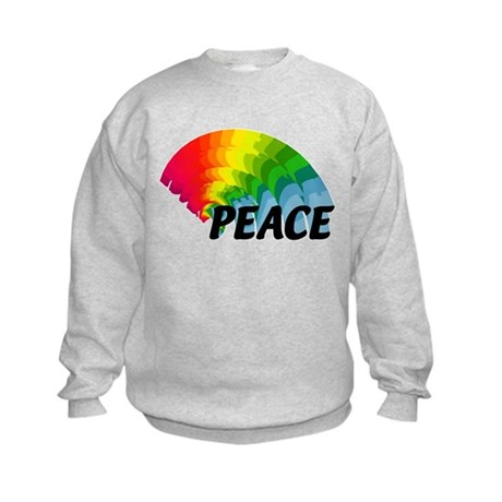 Rainbow Peace Kids Sweatshirt