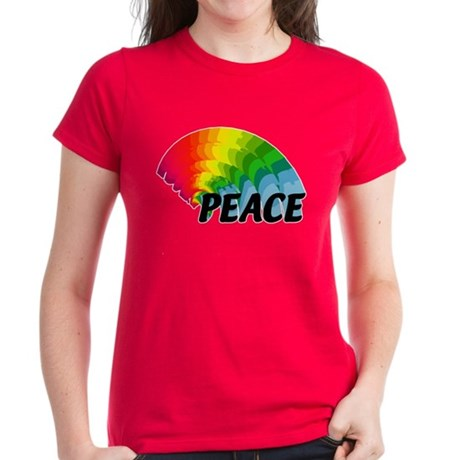 Rainbow Peace Women's Dark T-Shirt