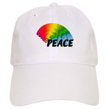 Rainbow Peace Cap