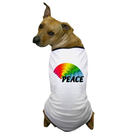 Rainbow Peace Dog T-Shirt