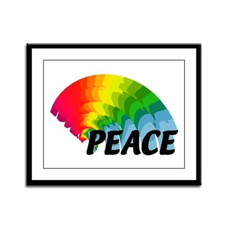 Rainbow Peace Framed Panel Print