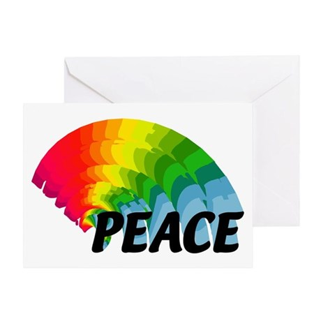 Rainbow Peace Greeting Card