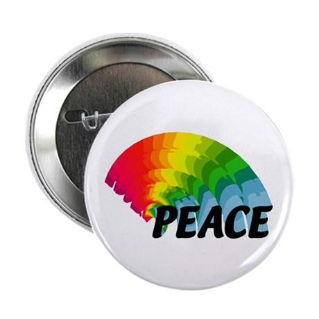 "Rainbow Peace 2.25"" Button"
