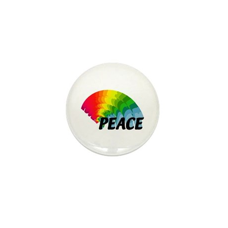 Rainbow Peace Mini Button