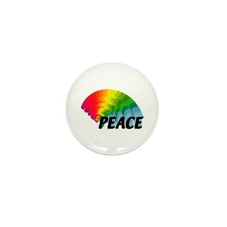 Rainbow Peace Mini Button (100 pack)