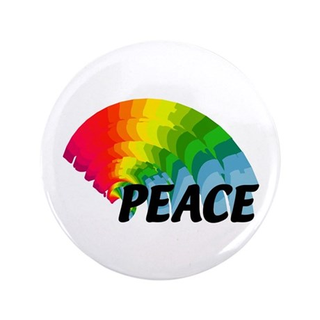 "Rainbow Peace 3.5"" Button"