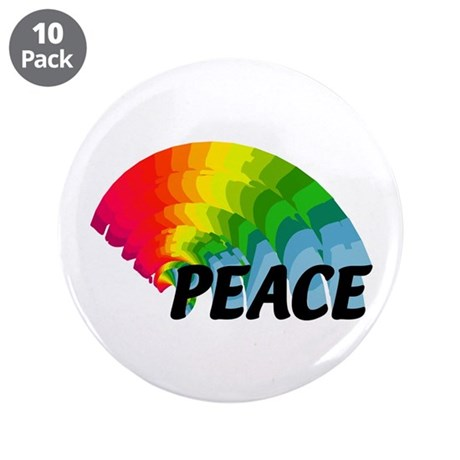 "Rainbow Peace 3.5"" Button (10 pack)"