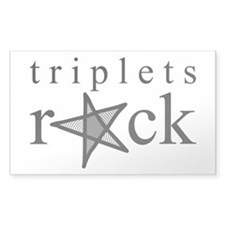 Triplets ROCK Rectangle Decal