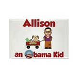 Allison - an Obama Kid Rectangle Magnet