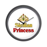 Sicilian Princess Wall Clock