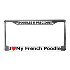 The poodle License Plate Frame