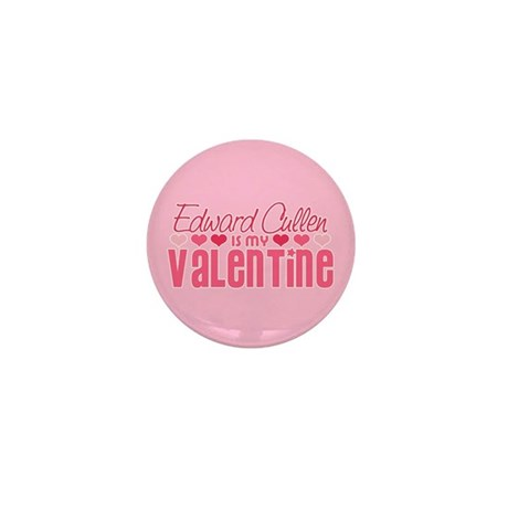 Edward Twilight Valentine Mini Button
