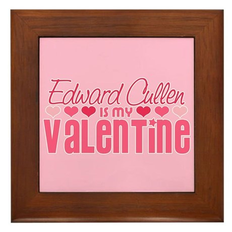 Edward Twilight Valentine Framed Tile