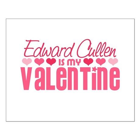 Edward Twilight Valentine Small Poster