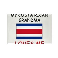 My Costa Rican Grandma Loves Me Rectangle Magnet (