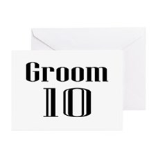 Groom 10 Greeting Cards (Pk of 20)