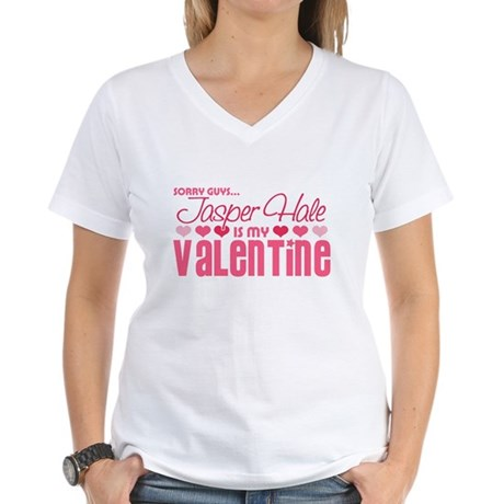 Jasper Twilight Valentine Women's V-Neck T-Shirt