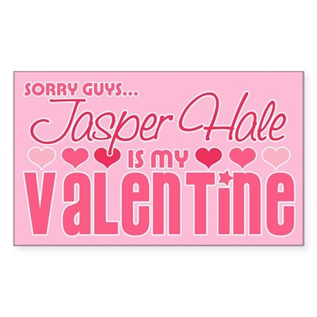Jasper Twilight Valentine Rectangle Sticker