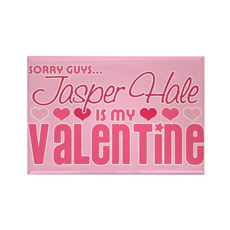 Jasper Twilight Valentine Rectangle Magnet (100 pa