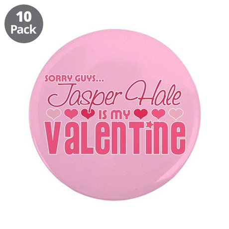"Jasper Twilight Valentine 3.5"" Button (10 pack)"