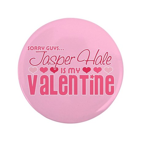 "Jasper Twilight Valentine 3.5"" Button (100 pack)"