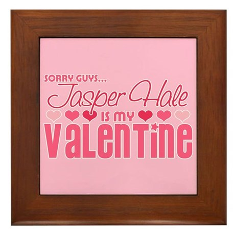 Jasper Twilight Valentine Framed Tile
