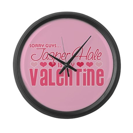 Jasper Twilight Valentine Large Wall Clock
