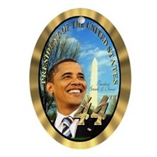"""Obama Inauguration"" Oval Ornament"