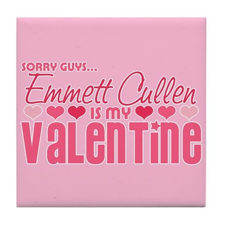 Emmett Twilight Valentine Tile Coaster