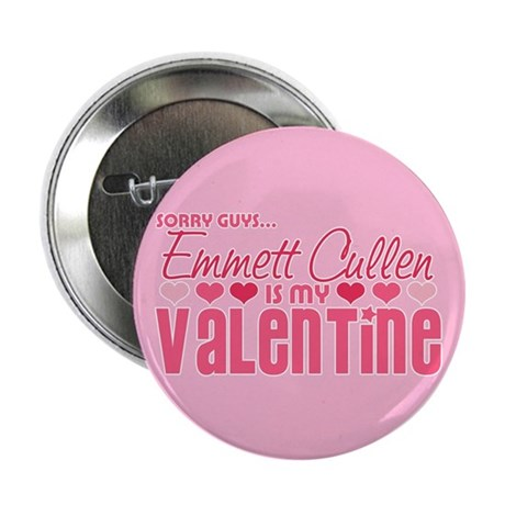"Emmett Twilight Valentine 2.25"" Button"