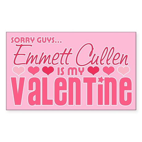 Emmett Twilight Valentine Rectangle Sticker