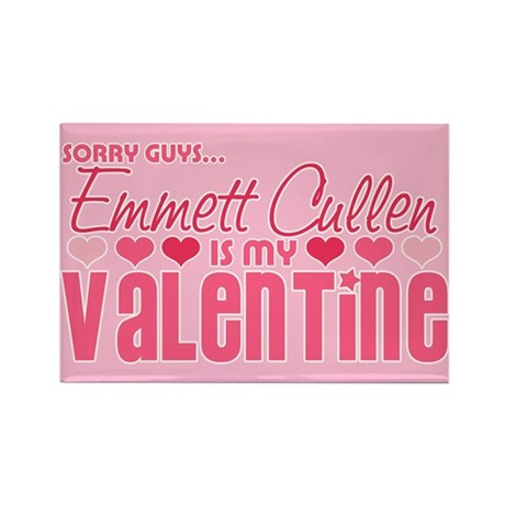 Emmett Twilight Valentine Rectangle Magnet (10 pac