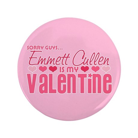 "Emmett Twilight Valentine 3.5"" Button"