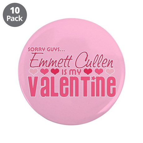 "Emmett Twilight Valentine 3.5"" Button (10 pack)"