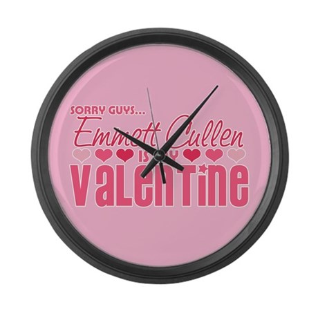 Emmett Twilight Valentine Large Wall Clock