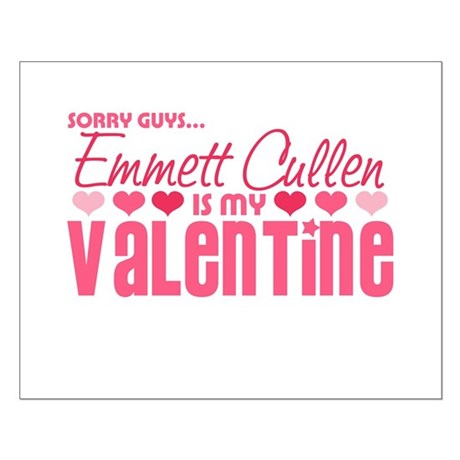Emmett Twilight Valentine Small Poster