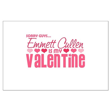 Emmett Twilight Valentine Large Poster