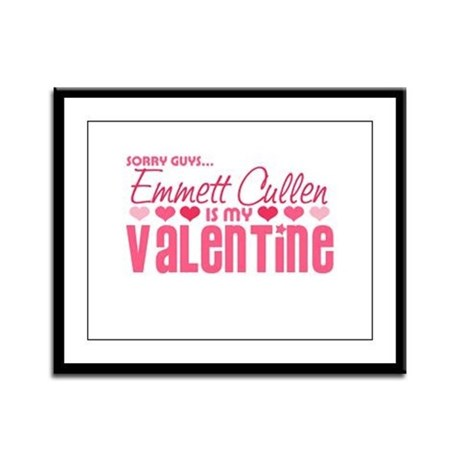 Emmett Twilight Valentine Framed Panel Print